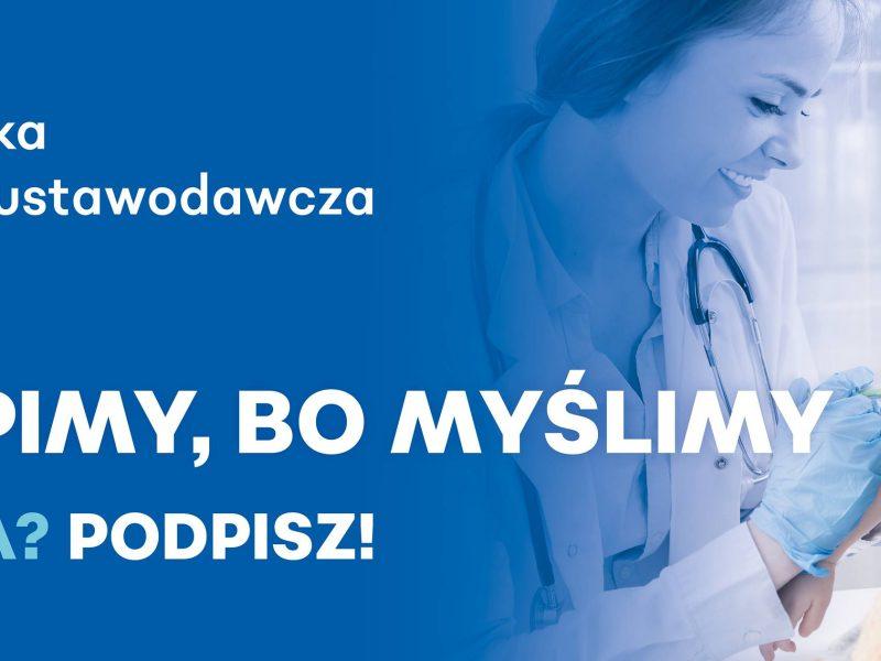 Szczepimy, bo myślimy – zbieranie podpisów UMED Łódź